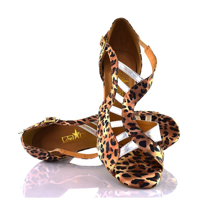 "Chaussures de danse kizomba Label Latin "" Mica Léopard"""