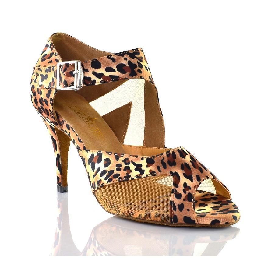 "Chaussures de danse kizomba Label Latin "" Monica léopard"""