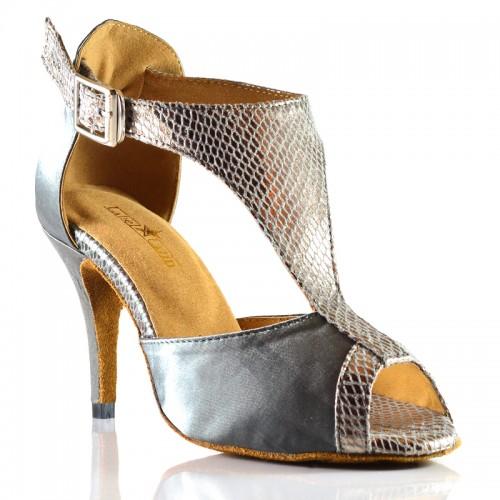 "Chaussures de danse salsa Label Latin ""Anastasia argent"""