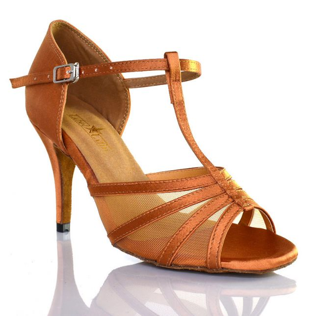 "Chaussures de danse salsa Label Latin ""Alma"" Tan"