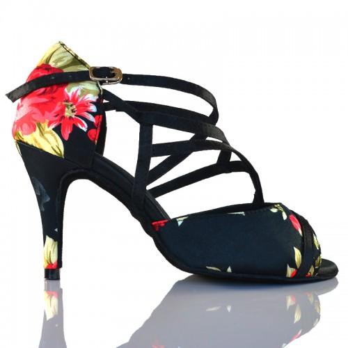 "Chaussures de danse salsa Label Latin ""flora"" fleurie"