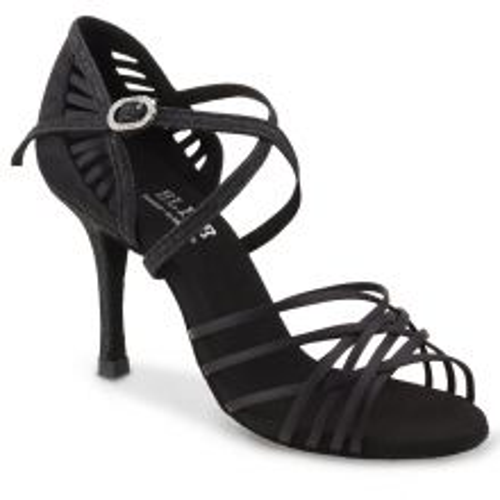 "Chaussures de danse Elite Rummos ""Sara"" satin noir et glitter"