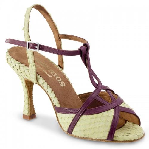 "Chaussures de danse Rummos ""Cuore"" cuir écailles vert"