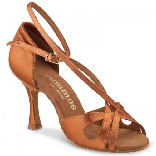 "Chaussures de danse Rummos ""Lana"" satin tan foncé"