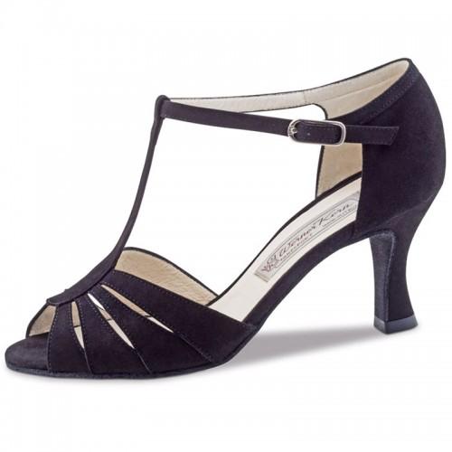 "Chaussures de danse Werner Kern ""Dalia"" 6,5 cm daim noir"