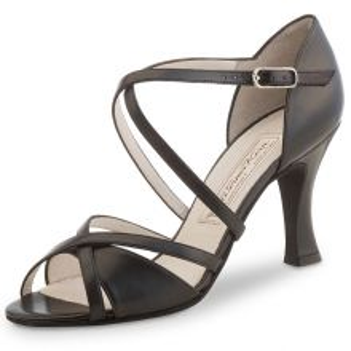 "Chaussures de danse Werner Kern ""July"" 8 cm cuir noir"