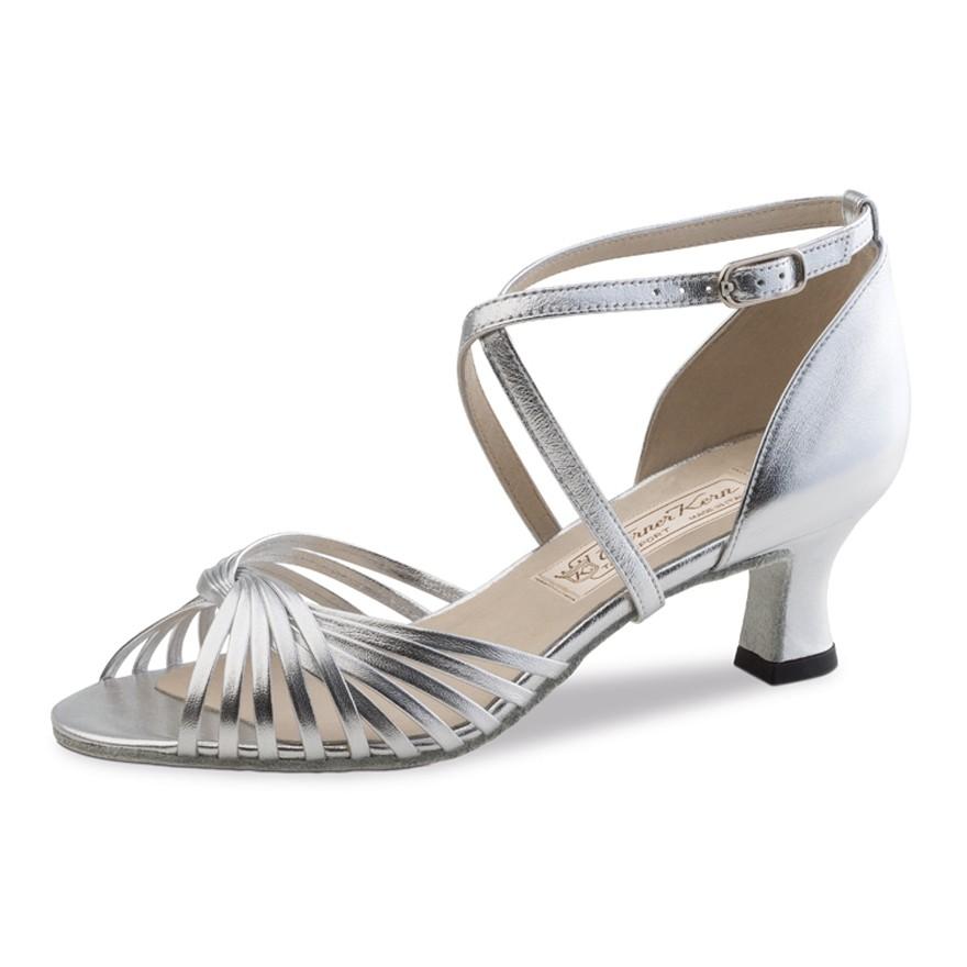 "Chaussures de danse Werner Kern ""Mary"" 5,5 cm cuir argent"