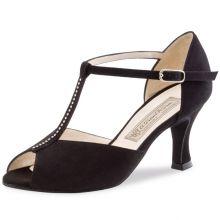 "Chaussures de danse Werner Kern ""Mona"" 6,5 cm daim noir"