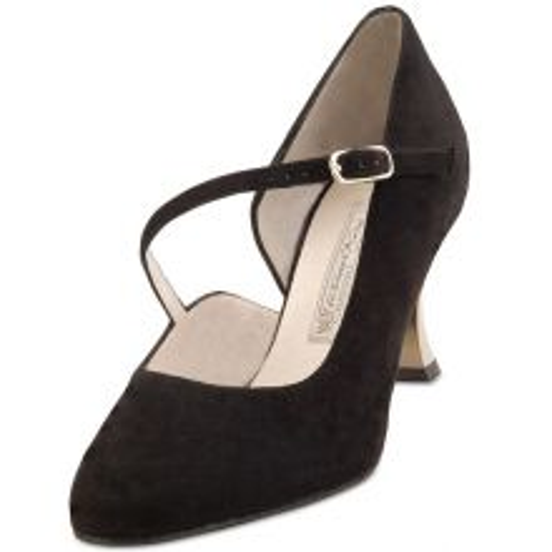 "Chaussures de danse Werner Kern ""Sarah"" 6,5 cm daim noir"