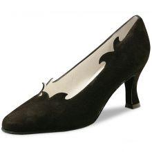 "Chaussures de danse Werner Kern ""Sigrid"" 6,5 cm daim noir"