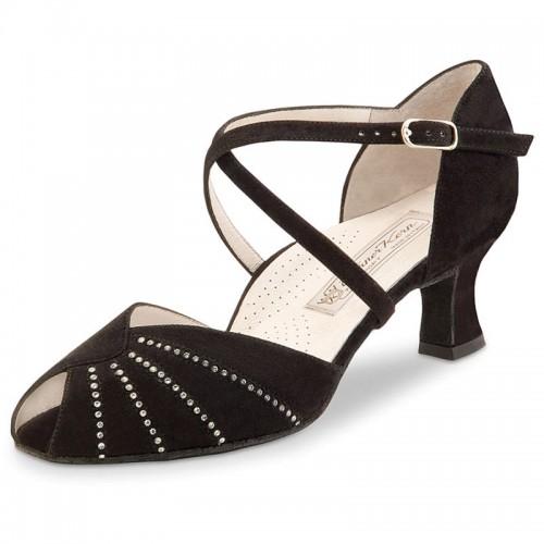 "Chaussures de danse Werner Kern ""Sonia"" 5,5 cm daim noir"