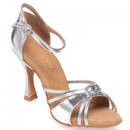 "Chaussures de danse Elite Rummos ""Bella"" cuir argent"