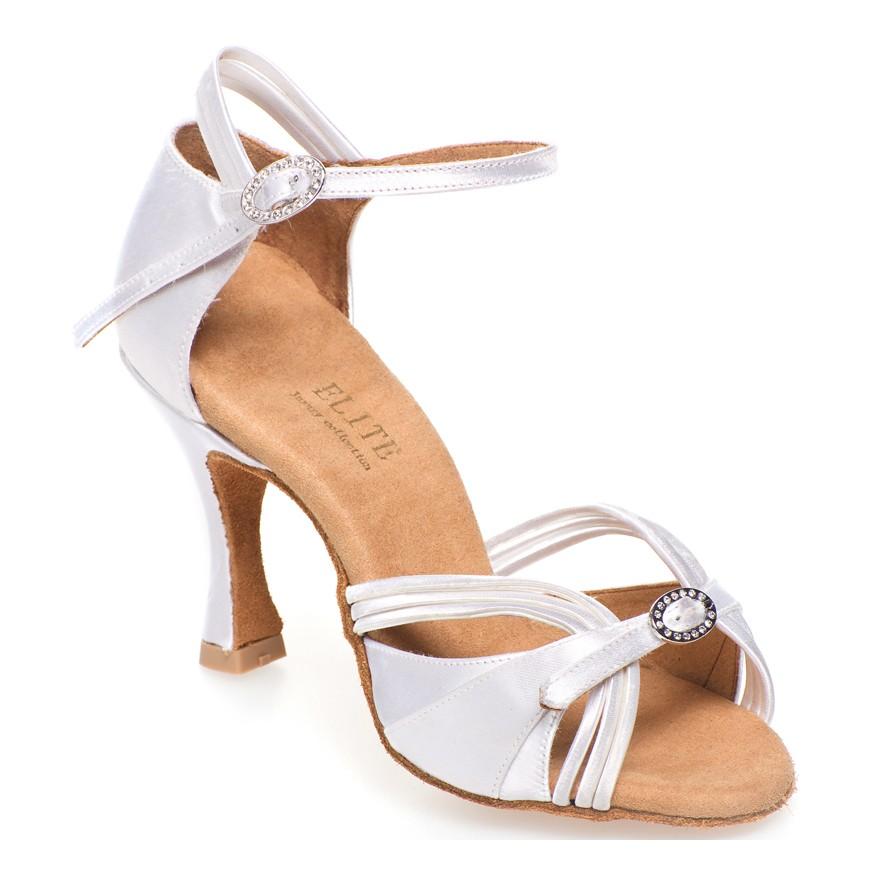 "Chaussures de danse Elite Rummos ""Cassandra"" satin blanc"