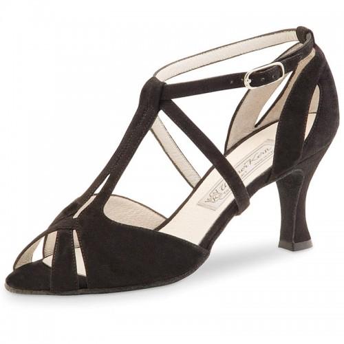 """Chaussures de danse Werner Kern """"Francis"""" 6,5 cm daim noir"""