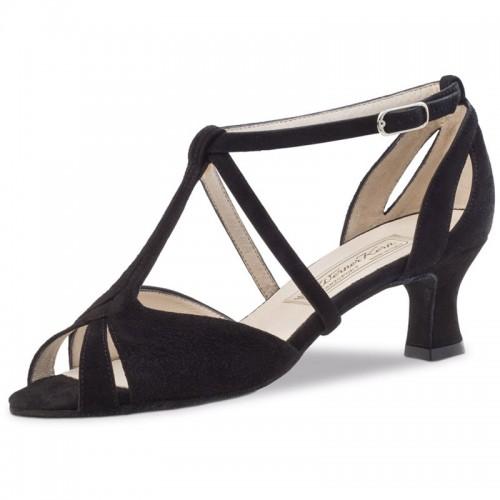 """Chaussures de danse Werner Kern """"Francis"""" 5,5 cm daim noir"""