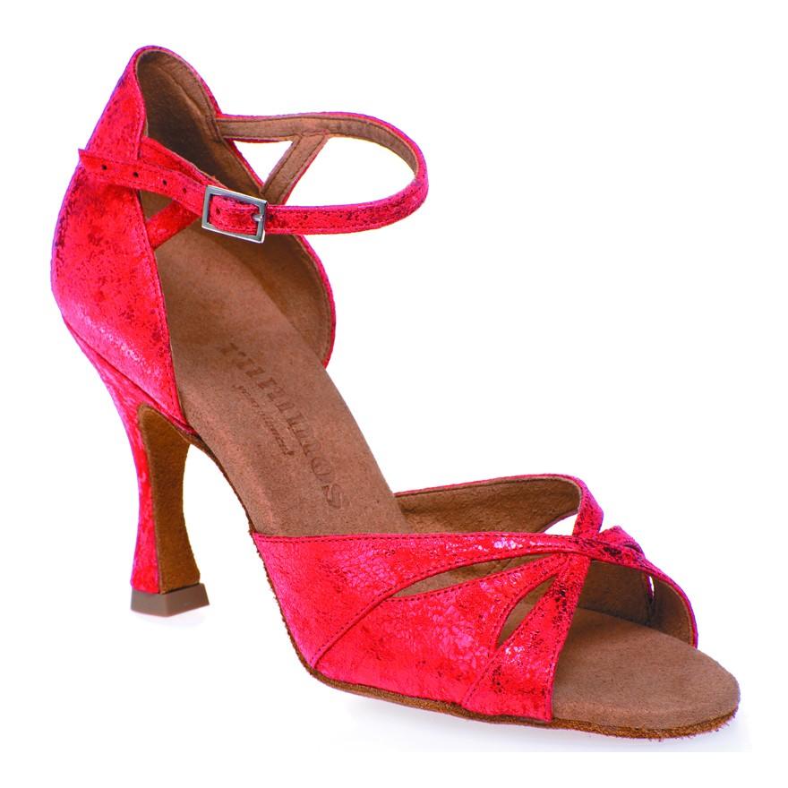 """Chaussures de danse Rummos """"Kamila"""" cuir rouge"""