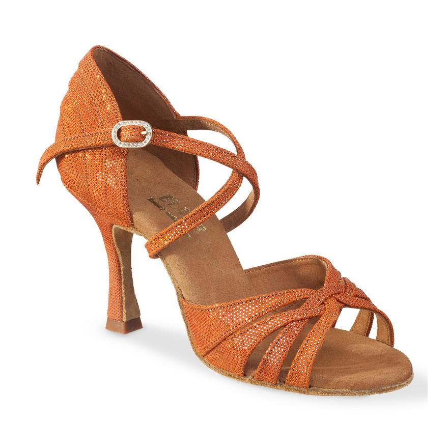 """Chaussures de danse Eilte Rummos """"Paris"""" cuir organe shinny"""