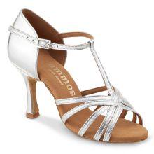 """Chaussures de danse Rummos """"Bea"""" cuir argent Pointure 40 Talon 6,5 cm Semelle cuir usage int/ext"""