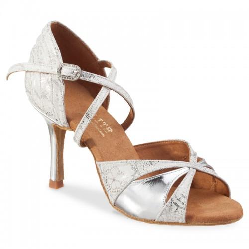 """Chaussures de danse Elite Rummos """"Paloma"""" cuir argent"""