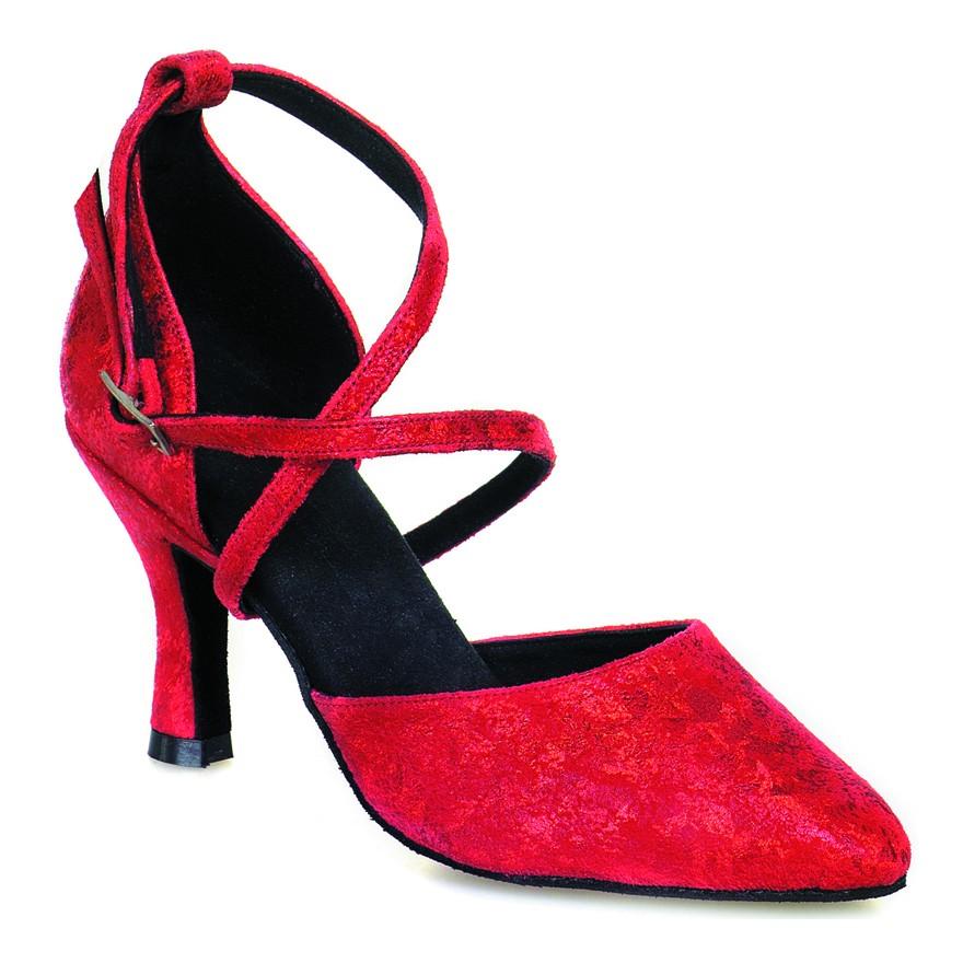 "Chaussures de danse Rummos ""Krista"" cuir rouge fantaisie"