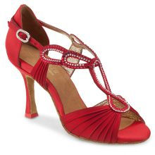 "Chaussures de danse Elite Rummos ""Ingrid"" satin rouge"