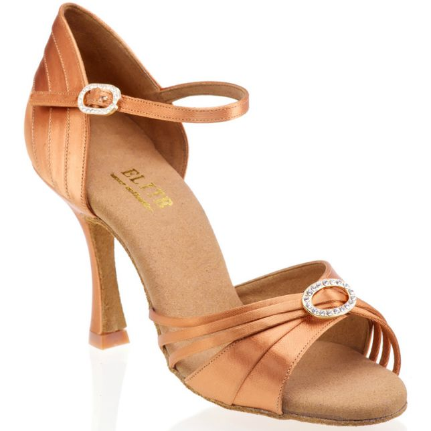 """Chaussures de danse Elite Rummos """"Anna"""" satin tan"""